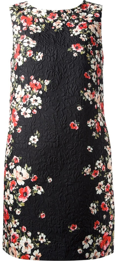 Dolce & Gabbana floral textured shift dress