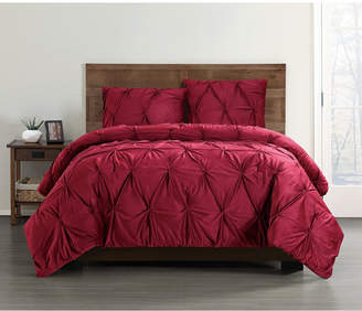 Truly Soft Everyday Pleated Velvet King Duvet Set Bedding