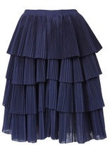 Sara Lanzi Tiered accordion skirt