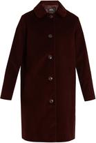 A.P.C. Lilli single-breasted cotton-corduroy coat
