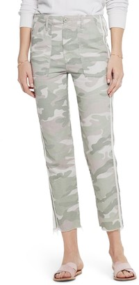 Mother The Shaker Chop Crop Fray Camo Pants
