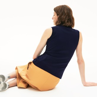 Lacoste Women's Sleeveless Cotton Pique Polo