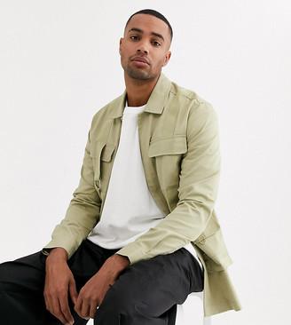 ASOS Tall regular shirt with utility pockets
