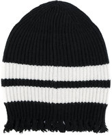 MSGM frayed knitted beanie - men - Polyamide/Viscose/Cashmere/Wool - One Size