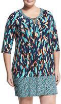 Neiman Marcus Bailey Shift Dress, Multi, Plus Size