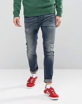 Benetton Drop Crotch Jeans In Slim Fit