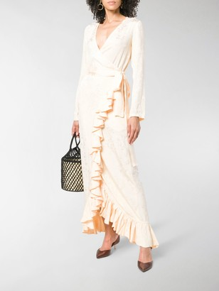 ATTICO Ruffle Trim Wrap Dress
