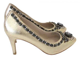 Boden Gold Leather Heels