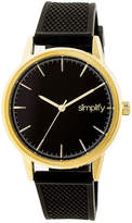 Simplify Mens Black Strap Watch-Sim5203