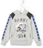 Diesel eagle print hoodie - kids - Cotton/Polyester - 12 yrs