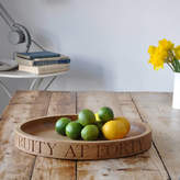 The Oak & Rope Company Personalised Fruit/Salad Bowl In Solid Oak