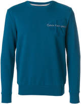 CK Calvin Klein embroidered logo sweatshirt
