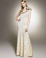 St. John Collection Assymetric Top Gown