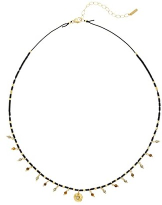 Chan Luu Beaded Short Necklace with Semi Precious Stones (Black Mix) Necklace