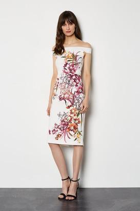 Karen Millen Placed Orchid On Signature Stretch Dress
