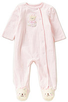Little Me Baby Girls Preemie-12 Months Sweet Bear Footed Coverall