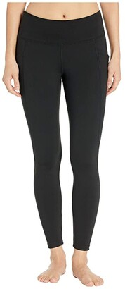 Jockey Active Premium Utility 7/8 Leggings (Deep Black) Women's Casual Pants