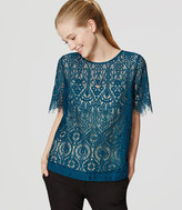 LOFT Stained Glass Lace Tee