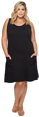 Fresh Produce Plus Size Drape Dress (Black) Women's Dress