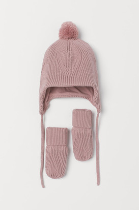 H&M Cotton hat and mittens