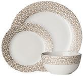 Avie Casablanca Blue 12 Piece Porcelain Dinner Set