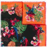 Valentino Garavani Valentino parrot print scarf - women - Silk/Cashmere/Wool - One Size