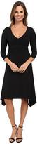 Mod-o-doc Cotton Modal Spandex Jersey Braided Trim Empire Seamed V-Neck Dress