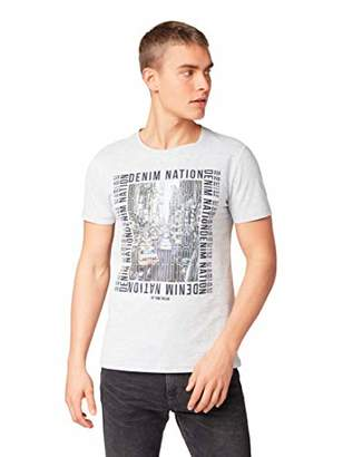 Tom Tailor Men's's T-Shirt Denim Light Stone Grey Mel 15398, XX-Large