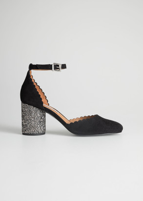 And other stories Rhinestone Heel Pumps