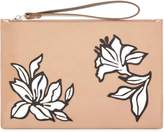 Jaeger Florence Leather Floral Clutch
