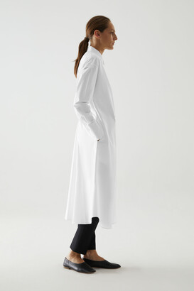 Cos Organic Cotton Rear Pleat Shirt Dress
