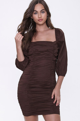 Forever 21 Ruched Bodycon Dress