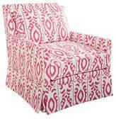 Dana Gibson Lilla Skirted Swivel Chair - Pink