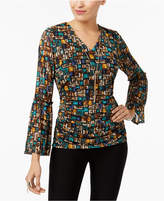 Thalia Sodi Printed Necklace Top, Created for Macy's