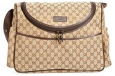 Gucci Infant Girl's Logo Diaper Bag - Beige