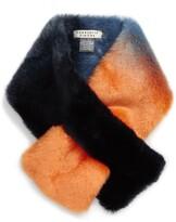 CHARLOTTE SIMONE Clara Faux Fur Pull Through Stole