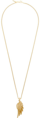 Emanuele Bicocchi Gold Wing Pendant Necklace