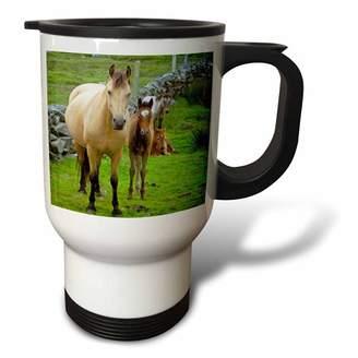 3drose 3dRose Ireland. Farm horses of the Connemara - EU15 KWI0001 - Kymri Wilt, Travel Mug, 14oz, Stainless Steel