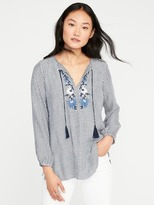 Old Navy Embroidered Tassel-Tie Tunic for Women