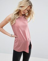 Asos Sleeveless Linen Tank with Seam detail