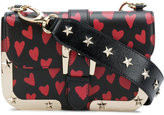 RED Valentino hearts print shoulder bag - women - Calf Leather/Leather - One Size