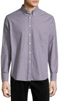 Billy Reid Tuscumbia Mini-Check Long-Sleeve Sport Shirt, Taupe