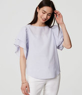 LOFT Ruffle Sleeve Top