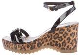 Stella McCartney Vegan Patent Leather Wedge Sandals