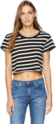 Pam & Gela Women's Stripe Crop Tee
