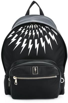 Neil Barrett Thunderbolt-print backpack