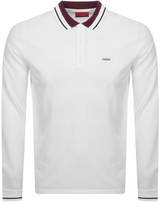 HUGO BOSS Donol 201 Long Sleeved Polo T Shirt White