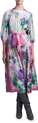 MARC JACOBS, RUNWAY Floral Scarf Print Dress
