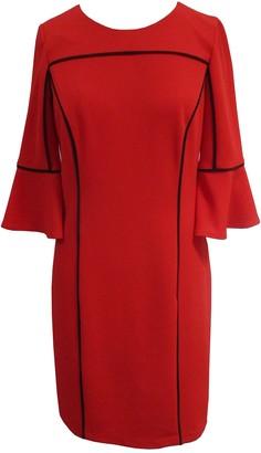 Sandra Darren Piped 3/4 Bell Sleeve Sheath Dress