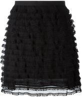 RED Valentino tulle detail straight skirt